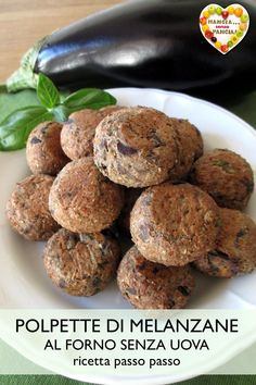 These of they are really super light, baked and without eggs. Veggie Patties, Berry, Baked Eggplant, Vegetarian Recipes, Healthy Recipes, Good Food, Yummy Food, Food Decoration, Vegetarian