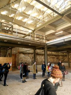 IA site visit, former sugar-making and brewery building owned by Cubex, central Bristol / design project site, Spring 2015