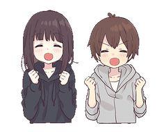 Menhera-chan.Animation 2 EN Anime Neko, Kawaii Anime Girl, Cute Anime Chibi, Cute Anime Pics, Anime Girl Cute, Chica Anime Manga, Anime Art Girl, Anime Love Couple, Cute Anime Couples