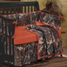 Baby Oak Camo Crib Set i will be getting my husband dont know it yet
