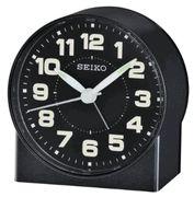 Seiko QHE084KLH Black Metallic Analog Alarm Clock - Travel Alarm Clocks