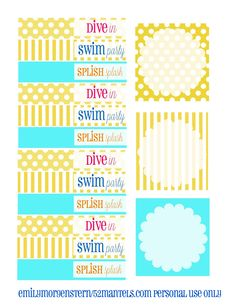 52 Mantels: Dive In, It's a Swim Party {with Free Printables!}