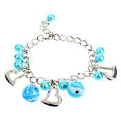 Fashion 22Cm Women'S Silver Alloy Charm Bracelet