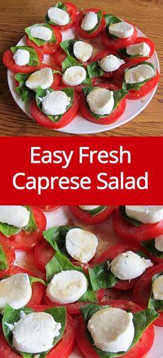 Caprese Salad Recipe With Fresh Tomatoes, Basil and Mozzarella Cheese | MelanieCooks.com