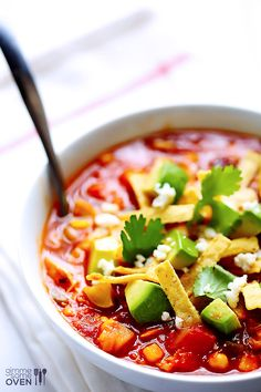 Chipotle Chicken and Rice Soup | gimmesomeoven.com #mexican