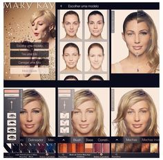 Mary Kay virtual makeover. It's fun to play around with different looks  www.marykay.com/candacesmith
