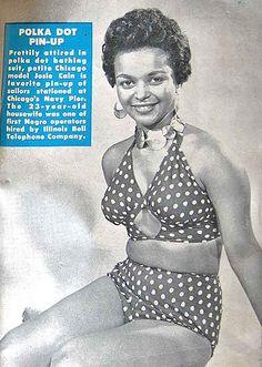 Josie Cain Models A Polka Dot Inspiration - Hue Magazine April, 1955