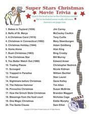 Christmas best christmas movies trivia holiday christmas party printable christmas games trivia bingo gift exchanges sciox Gallery