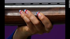 Get The Look: A Simple Olympic Nail Art Design - would also be great Labor Day, Memorial Day, of July, Bastille Day, oh heck all summer! Basic Nails, Simple Nails, Beautiful Nail Designs, Cool Nail Designs, Usa Nails, Patriotic Nails, Nail Stencils, 4th Of July Nails, Latest Nail Art
