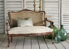 I need a settee like this for my entry!  On the hunt!