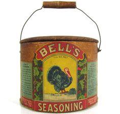 Bell's Seasoning tin with turkey