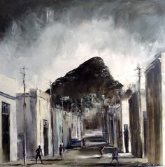 'Old Bo-Kaap, Cape Town' by Gavin Collins. South African Art, Wild Flowers, Europe, Cape Town, Places, Artwork, Paintings, Artists, Inspiration