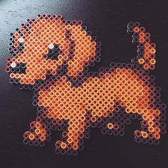 Dachshund dog perler beads by jlynnbrewer More