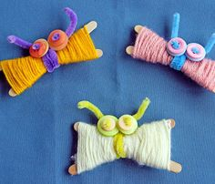 Click pic for 28 Spring Crafts for Kids - Yarn Butterflies | Spring Craft Ideas for Preschoolers