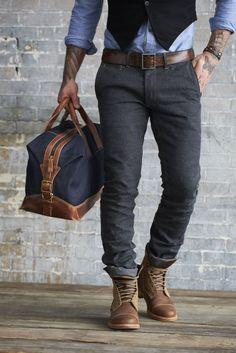 Coulter Denim Duffle. #timberland #backpack #denim