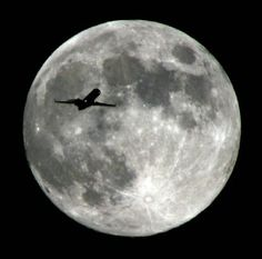 dziembowski zbigniew sharing_aviation_A05_An airlines jet plane approaching Los Angeles International Airport crosses the moon as seen from Monterey Park Calif.jpg