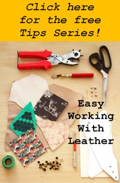 Tracing the sewing pattern onto your leather