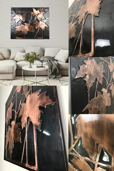 Modern wall and home decor. The dance of art with copper. Fully handmade copper designs. It will add beauty to your home. Copper Wall Decor, Sycamore Leaf, Copper Crafts, Handmade Copper, Modern Wall, Home Crafts, Dance, Wall Art, Beauty
