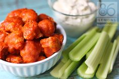 Buffalo CAULIFLOWER bites...have to try these