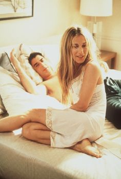 love Carrie's slip! Always wanted one like this for sleeping in!