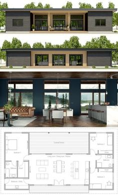 Tiny House Plans 727120302320563898 - Architecture House Plan, Home Plans, Casa Pequena, Planta de Casa Source by fouillaretfrederic Container House Design, Tiny House Design, Modern House Design, Simple Home Design, Contemporary House Plans, Cottage Design, Simple House, Dream House Plans, Small House Plans