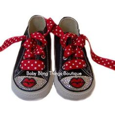 Bling Converse Red Lips, Bling Converse Sneaker