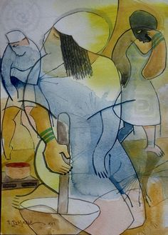 A vizinha das badjias  pintura de João timane