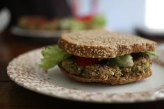 Quinoa Black Bean Burgers:   Make & freeze for quick lunches. Omit chicken broth and use water or vegetable broth to cook Quinoa. Skipping chicken broth won't make it less tasty. Update: This tasted absolutely insane and filling. Both thumbs up! And super easy!