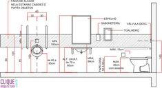box de chuveiro acessivel - Pesquisa Google Bathroom Plans, Bathroom Spa, Bathroom Layout, Bathroom Dimensions, Inspired Homes, Restaurant Design, Tool Design, Architecture Details, Planer