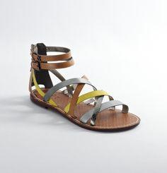 Lime Puff Gisela Multi Strap Sandals