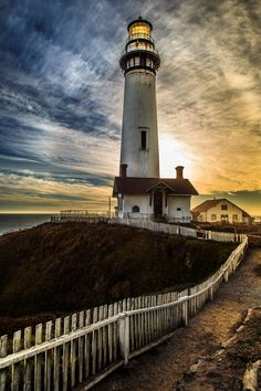 ~~Pigeon Point Lighthouse • sunset, Pescadero, California by T. C.~~
