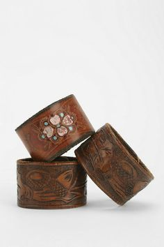 Urban Renewal Tooled Leather Bracelet #urbanoutfitters
