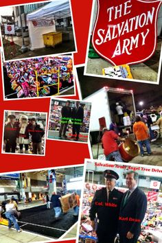 Spent the evening being blessed by helping the Salvation Army collect