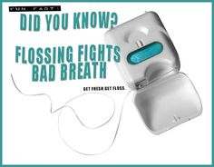 Did you know? Flossing fights bad breath. Natalie Lenser, DDS - pediatric dentist in Modesto, CA @ www.toothfairyteam.com