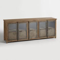 Large Living Room Storage - Large Wood and Metal Langley Storage Cabinet Brown by World Market Living Room Storage, Wood Doors, Tv Stand With Storage, Media Furniture, Storage Cabinet, Doors Interior, Wood Doors Interior, Wood And Metal, Metal Door