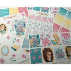 Belle  Sticker Set - Kikki K Erin Condren Happy Planner Filofax Planner Stickers