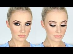 NEW YEARS Makeup Tutorial / Sparkly Glam Cut-Crease + LONG Lashes! | Lauren Curtis - YouTube