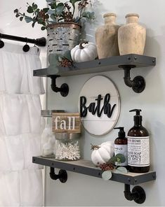 Home Interior Hallway 08 Small Farmhouse Bathroom Dcor Ideas.Home Interior Hallway 08 Small Farmhouse Bathroom Dcor Ideas Cheap Home Decor, Diy Home Decor, Sweet Home, Diy Casa, Home Interior, Bathroom Interior, Modern Bathroom, Interior Design, Grey Bathroom Decor
