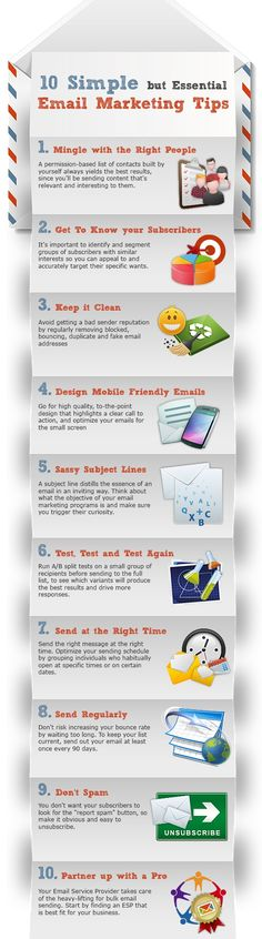 Infographic Email Marketing Tips