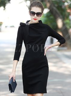 Shop for high quality Pure Color Roman Cotton Sheath Dress online at cheap prices and discover fashion at Ezpopsy.com