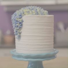 wedding cakes videos Whether youre making a cake for a birthday, shower or wedding, this Elegant Hydrangea Cake is sure to impress. Decorated with stunning buttercream flowers, this cake is the perfect marriage between elegance and class. Cake Decorating Videos, Cake Decorating Techniques, Cake Decorating Piping, Mini Cakes, Cupcake Cakes, Cupcakes Decorados, Buttercream Flowers, Buttercream Ruffle Cake, Buttercream Cake Designs