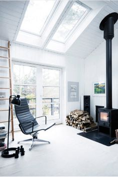 Beautiful Danish Summerhouse, cosy wood burner and bathed in natural light.