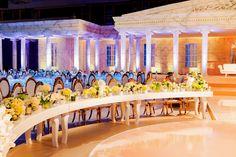 Roman themed wedding at St Regis Hotel, Saadiyat Island, UAE, produced by Signature Designs