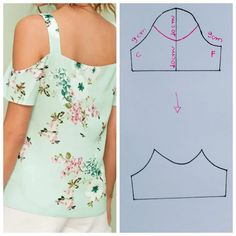 Easy 50 Sewing tutorials projects are readily available on our site. Take a look and you wont be sorry you did. Dress Sewing Patterns, Blouse Patterns, Clothing Patterns, Blouse Designs, Fashion Sewing, Diy Fashion, Ideias Fashion, Costura Fashion, Sewing Sleeves