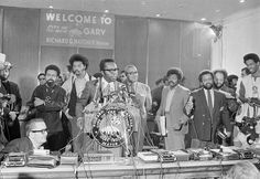 Gary Mayor Richard Hatcher speaks at the National Black Political Conference in Gary, Ind. (AP/Charles Kelly)
