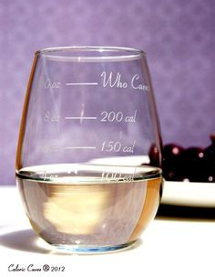 Imaristarr's faves: The Calorie Counting Stemless Wine Glass. BUY HERE: https://www.luvocracy.com/imaristarr/recommendations/the-calorie-counting-wine-glass-now-in-stemless