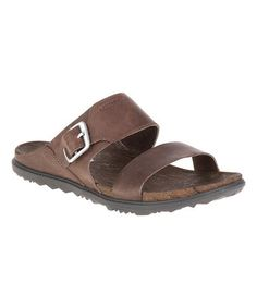 a1d761e409d7 Merrell Around Town Buckle Slide    Shop now with FootSmart