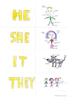 card matching phrases He is a Boy She is a Girl