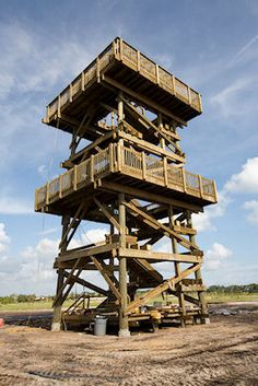 Observation Tower Construction by Bridge Builders USA, Inc. Forest Hotel, Pole House, Bamboo Structure, Lookout Tower, Tree House Designs, Tower Design, Timber Frames, Home Goods Decor, Treehouses
