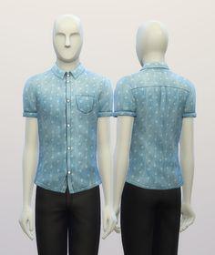 Cuffed Anchor patterned shirt at Rusty Nail via Sims 4 Updates